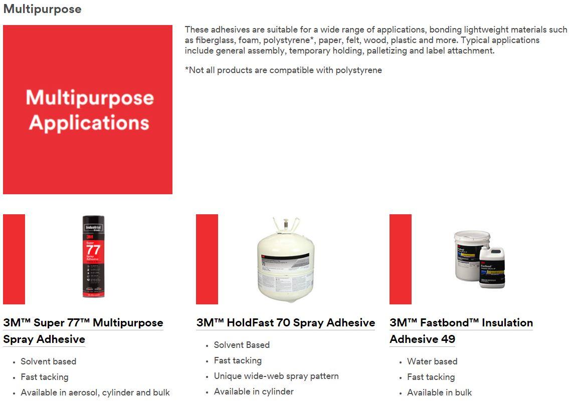 3m multipurpose adhesives